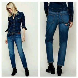 Free People Four Seasons Embroidered Jeans